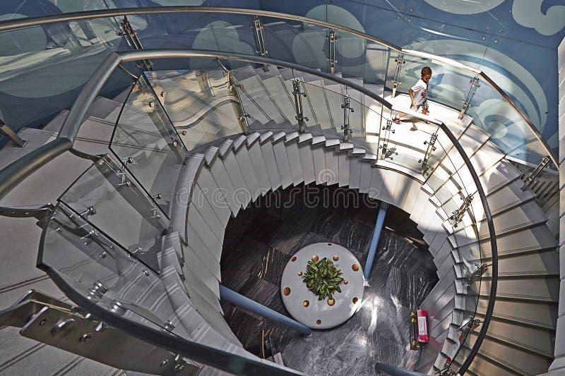 Escalier de rotation image stock