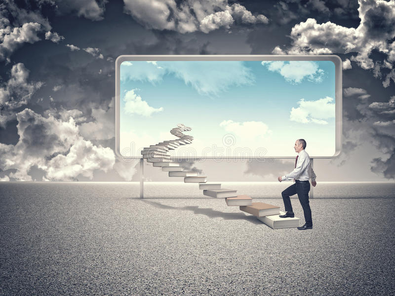 Escalier de sagesse illustration de vecteur