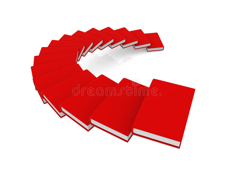 escalier de spirale du livre 3d avec le cache blanc illustration stock illustration du page. Black Bedroom Furniture Sets. Home Design Ideas