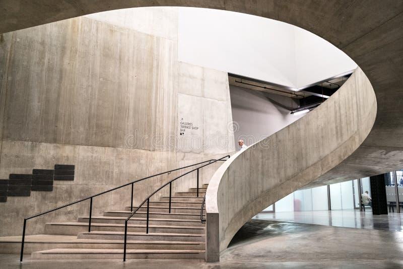Escalier en béton à Londres photos libres de droits