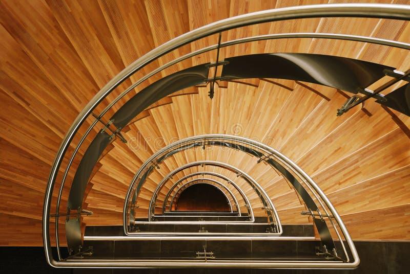 Escalier en bois images libres de droits