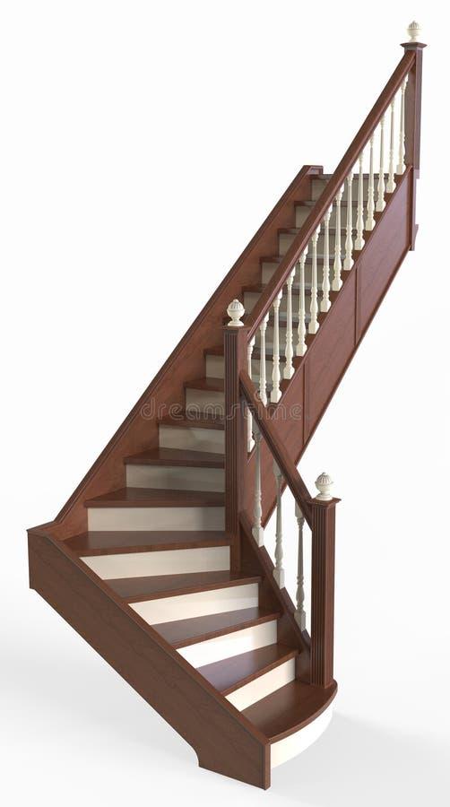 Escalier en bois illustration libre de droits