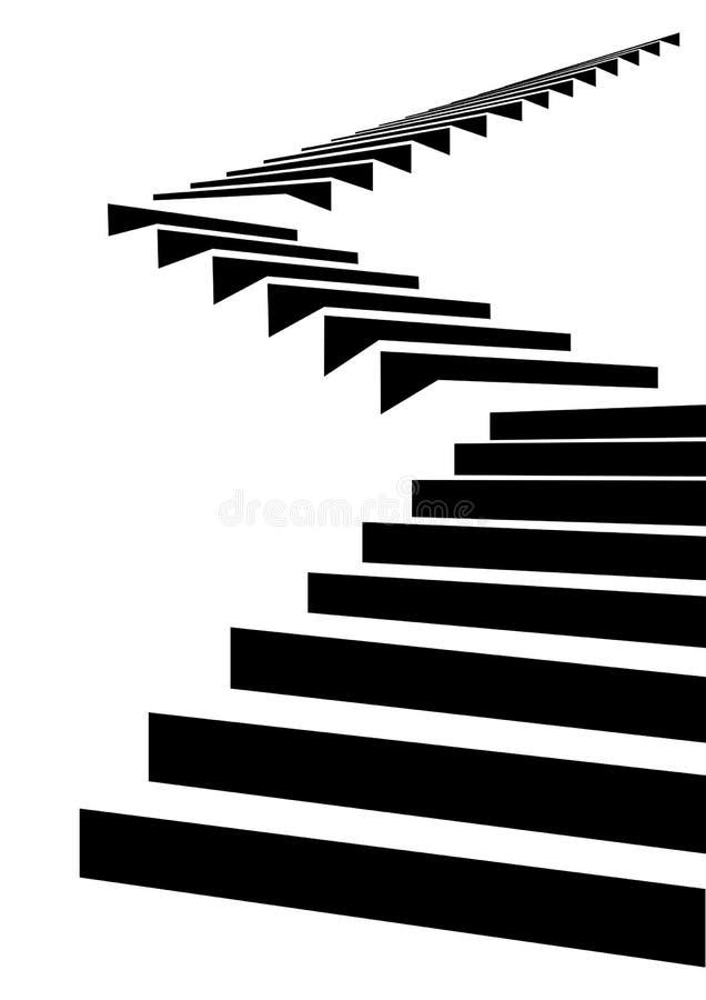 Escalier en ciel illustration stock