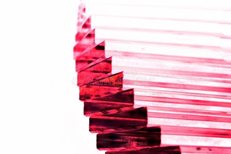 Escalier en cristal pourpre photographie stock libre de droits