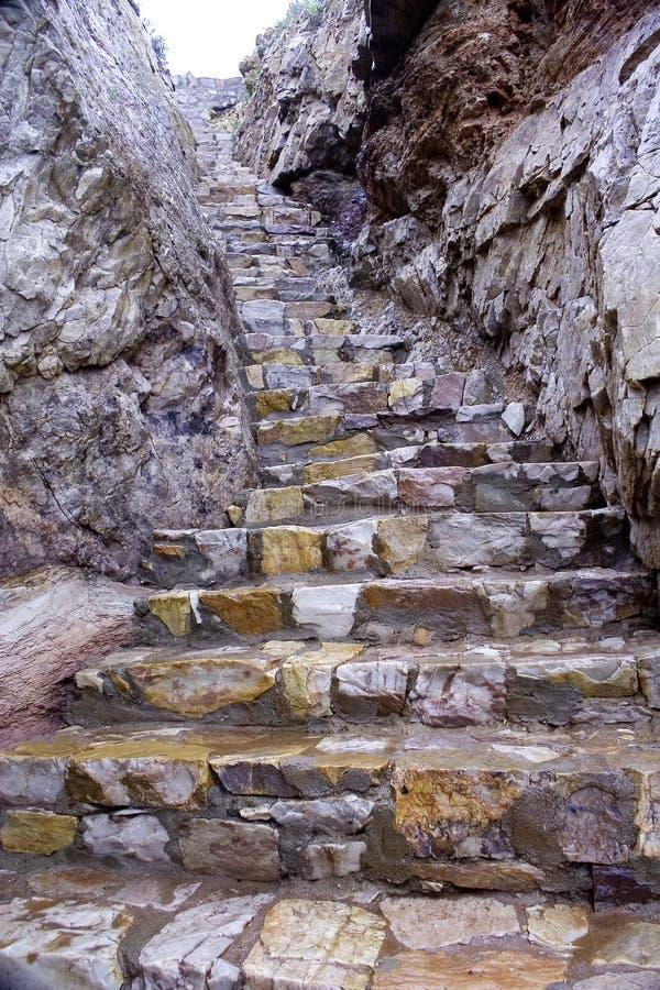 Download Escalier en pierre au ciel image stock. Image du escalier - 56481843