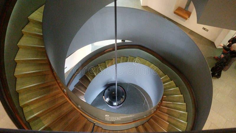 Escalier en spirale d'observatoire royal photos stock