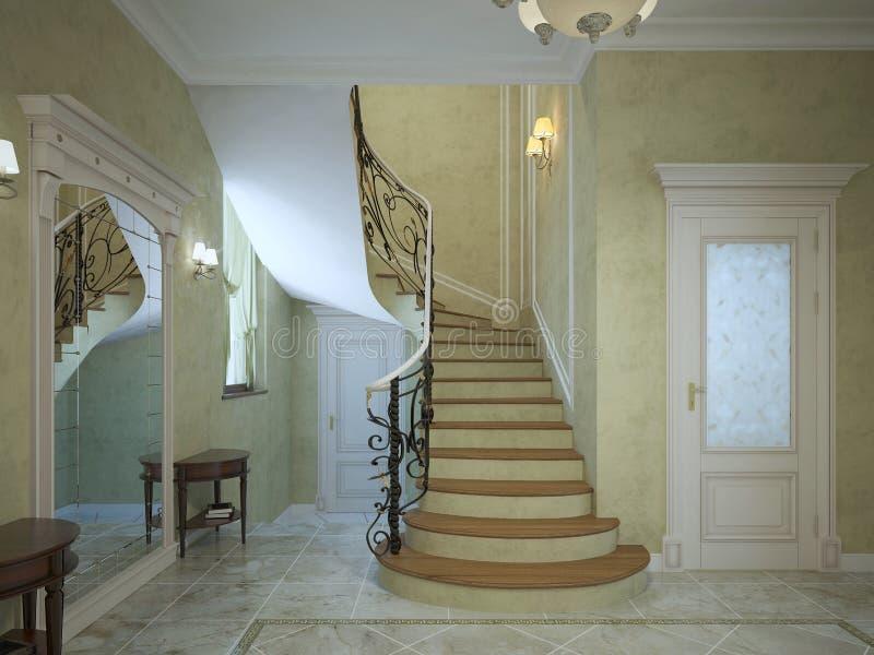 Deco couloir escalier ordinary idee decoration couloir for Couloir peinture bicolore