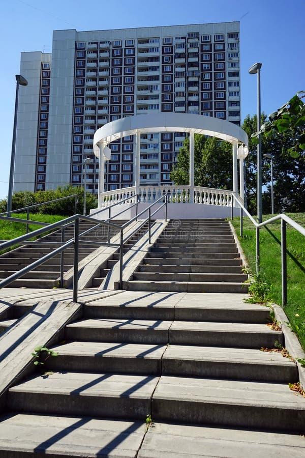 Escalier et appartement image libre de droits