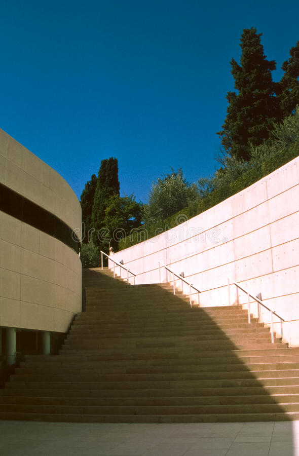 Escalier extérieur moderne, Nice, France photos libres de droits