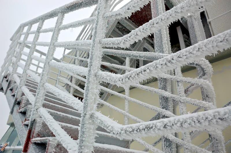 Escalier glacial images stock