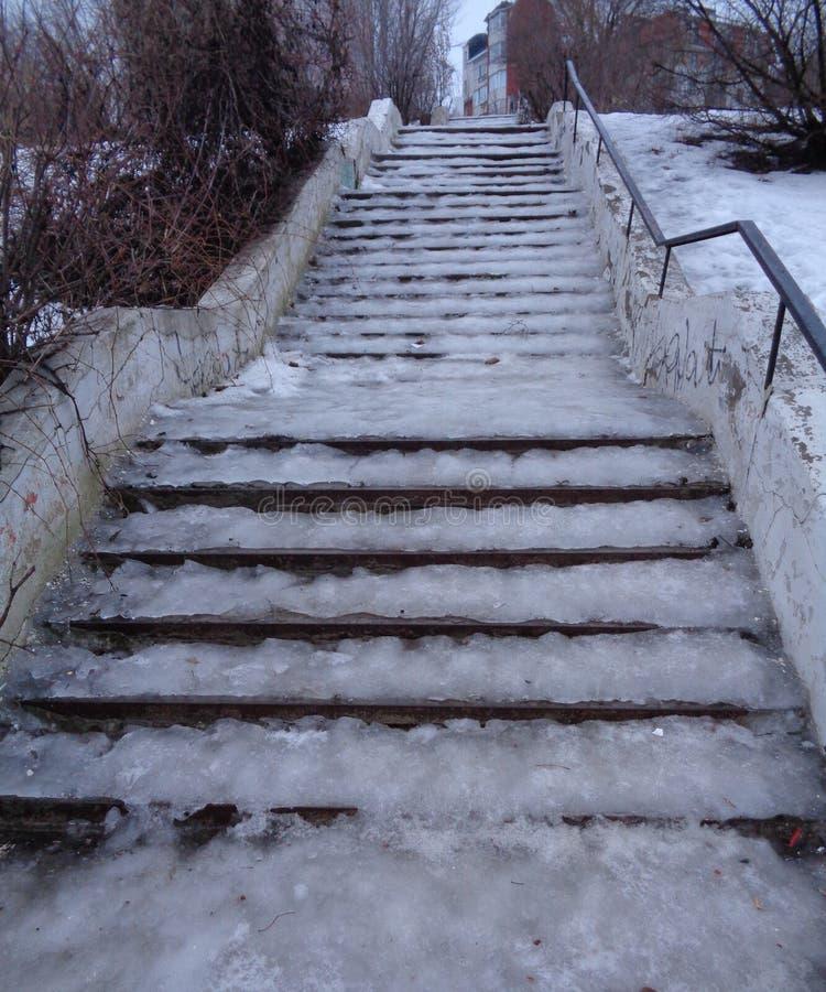 Escalier glissant photo libre de droits