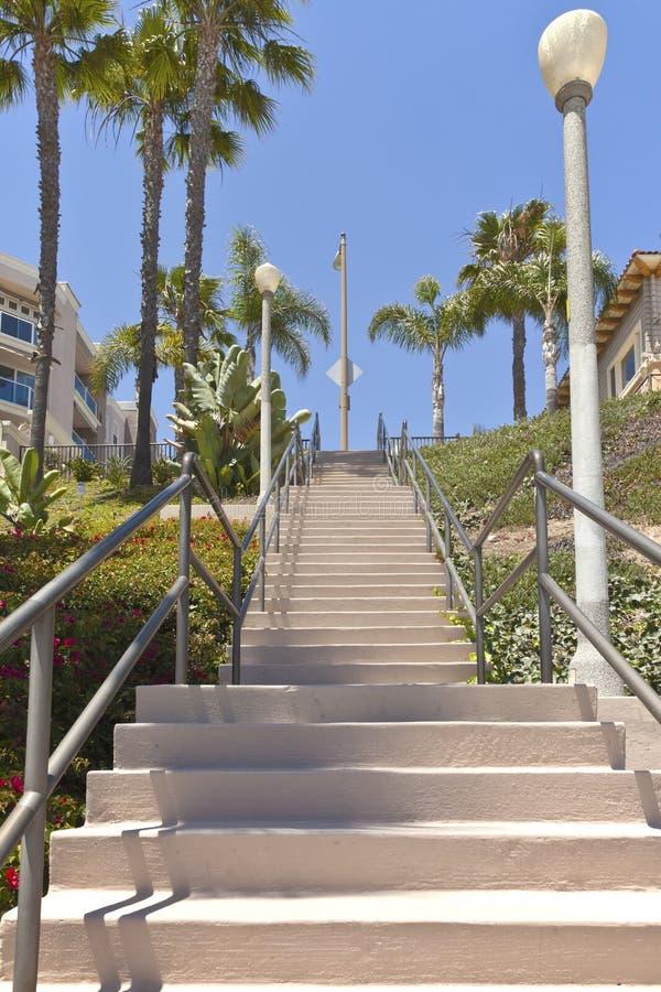Escalier grand à Long Beach la Californie. images stock
