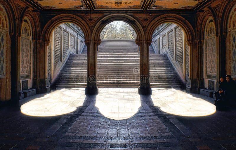 Escalier grand au Central Park photographie stock libre de droits