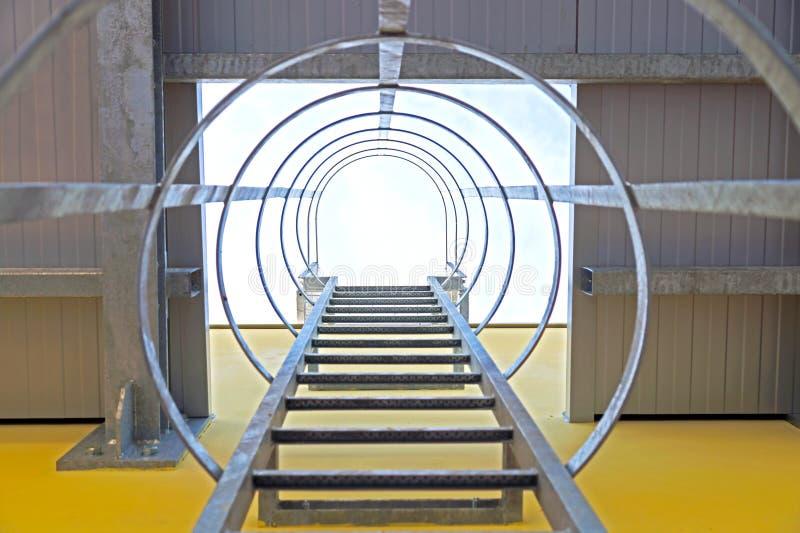 Escalier industriel photo libre de droits