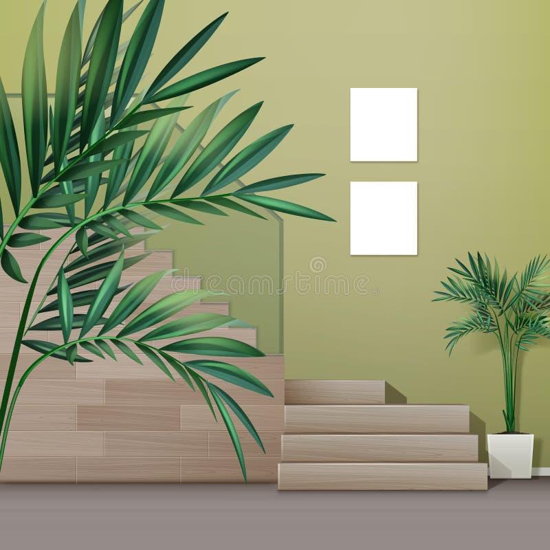 escalier intérieur illustration de vecteur