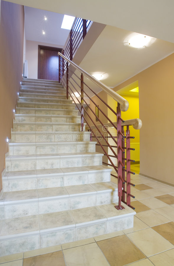 escalier intérieur image libre de droits