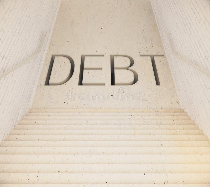 Escalier menant à la dette illustration stock