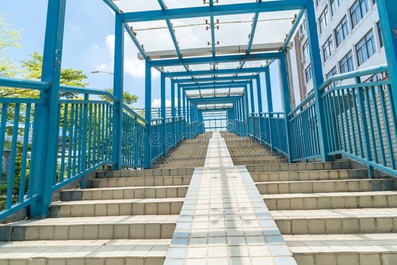 Escalier moderne de style de ville images libres de droits
