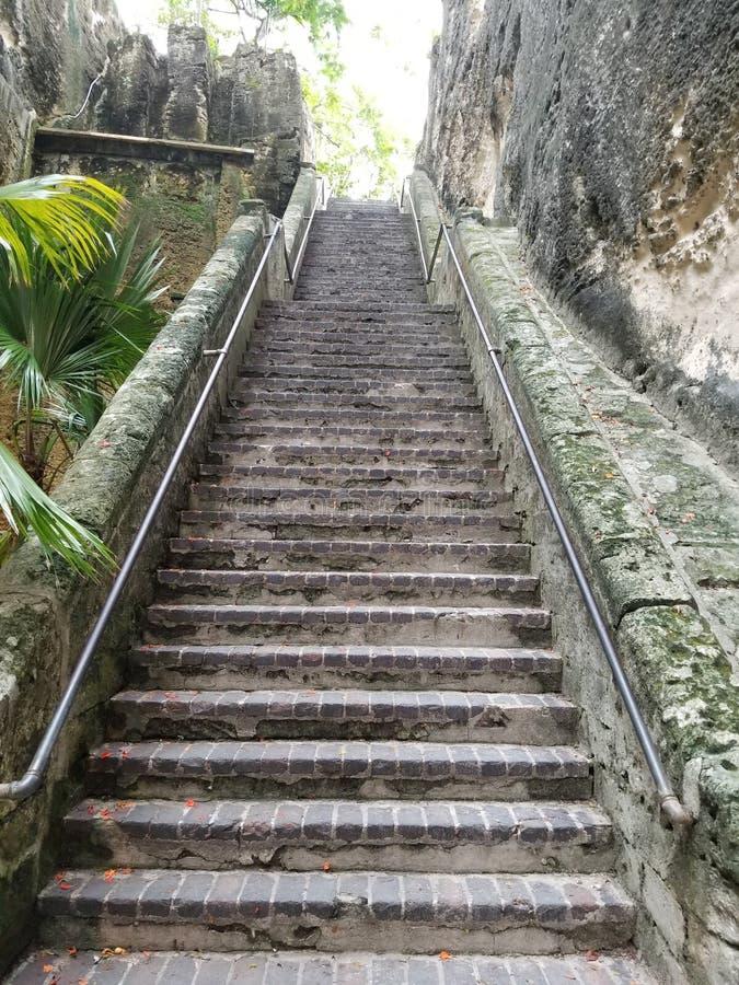 Escalier Nassau Bahamas de la Reine images stock