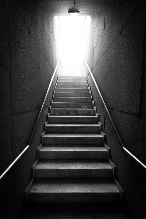 Escalier noir et blanc images libres de droits