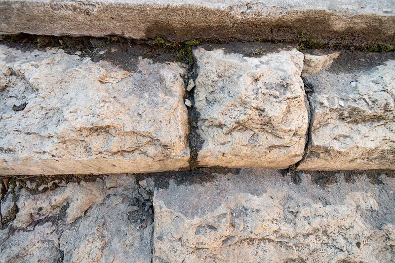 Escalier pierre à macadam photos libres de droits