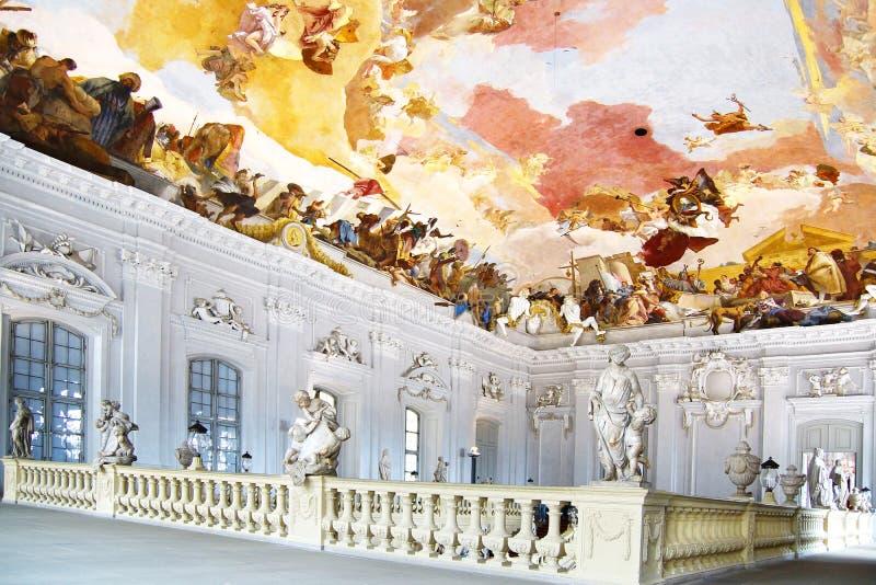 Escalier principal dans Wurzburger Residenze. photographie stock libre de droits