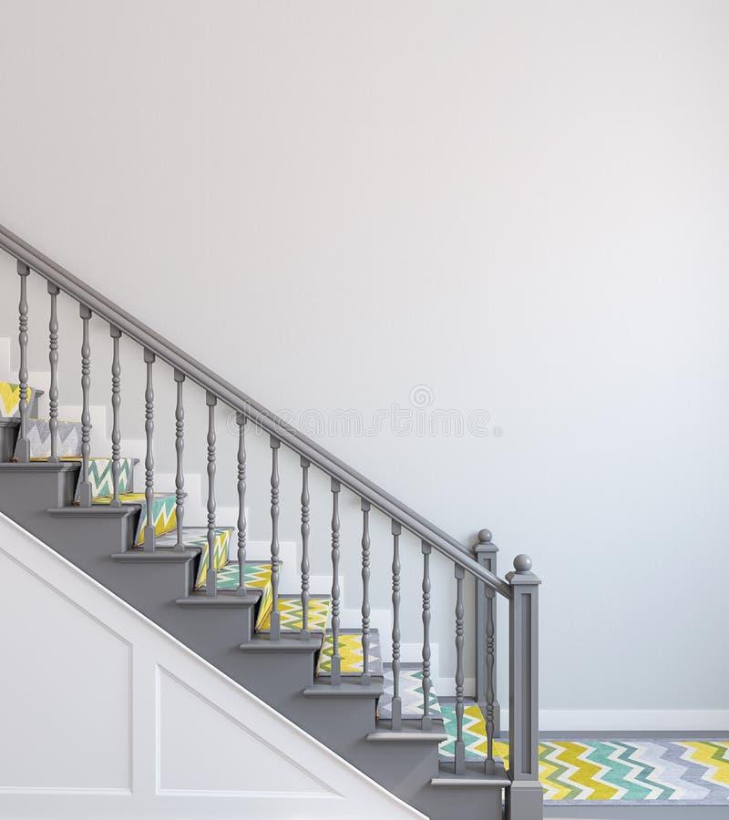 escalier rendu 3d illustration de vecteur