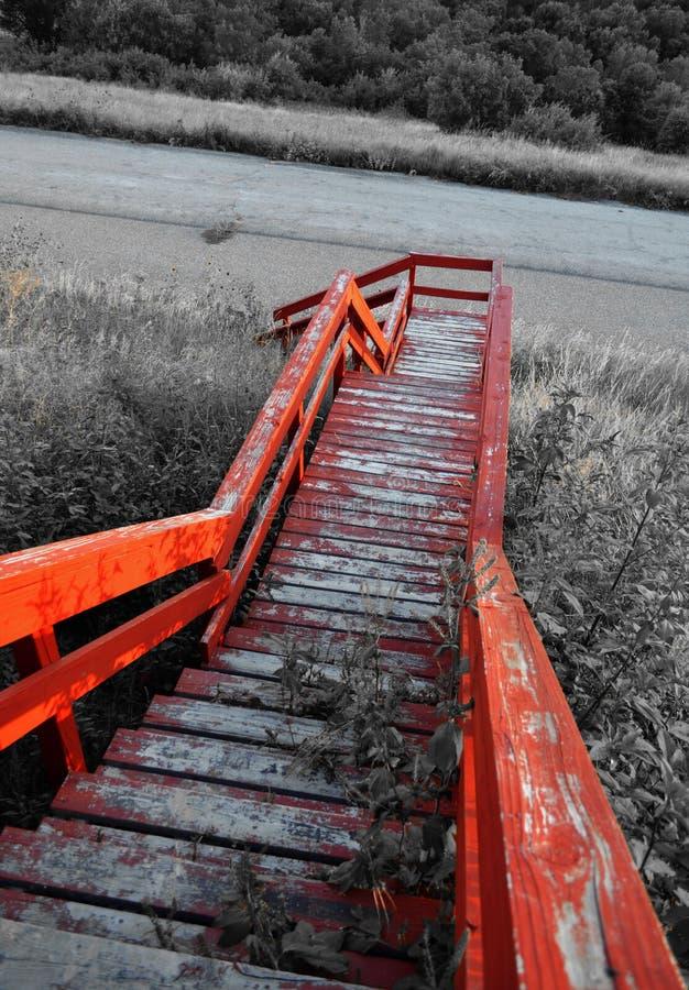 Escalier rustique photo stock