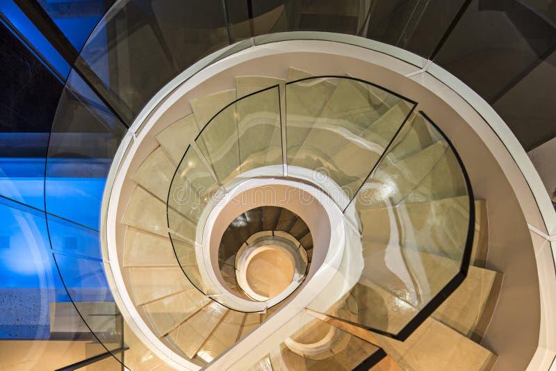 Escalier spiralé de marbre photo libre de droits