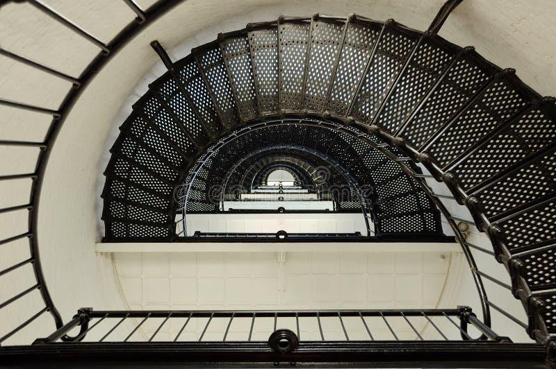 Escalier spiralé de phare sans fin photos libres de droits