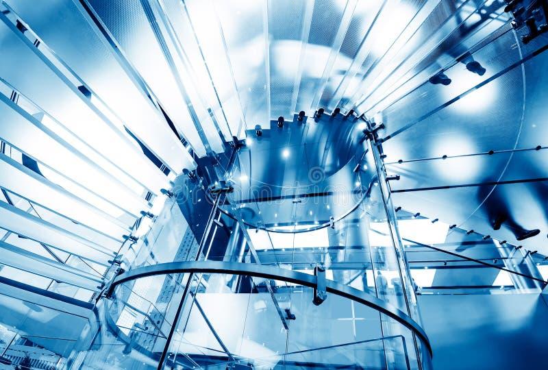 Escalier spiralé en verre photographie stock libre de droits