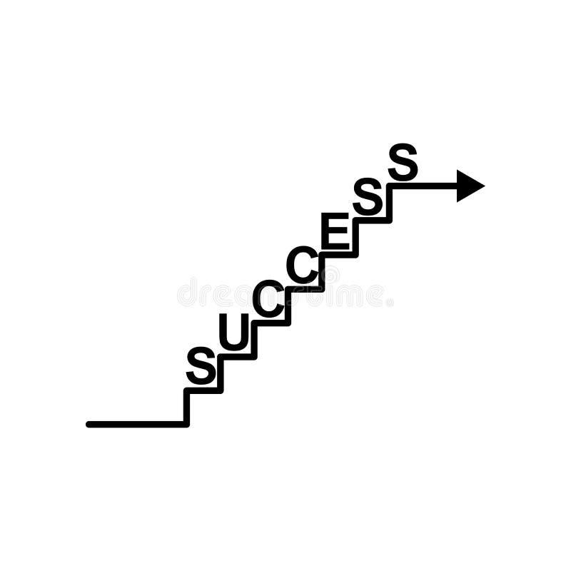 Escalier, succès, cible, icône de flèche Peut être employé pour le Web, logo, l'appli mobile, UI, UX illustration libre de droits
