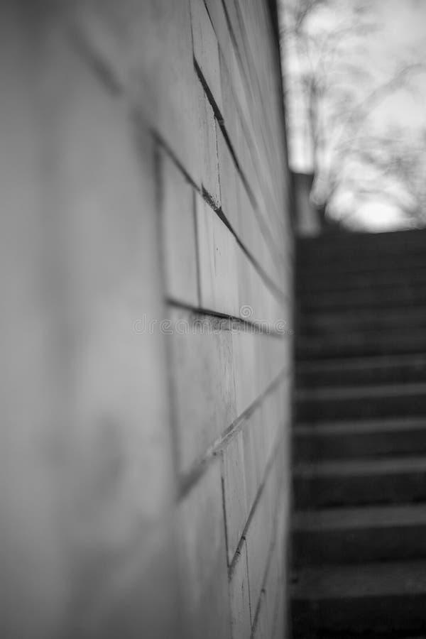 escalier un mur photographie stock libre de droits