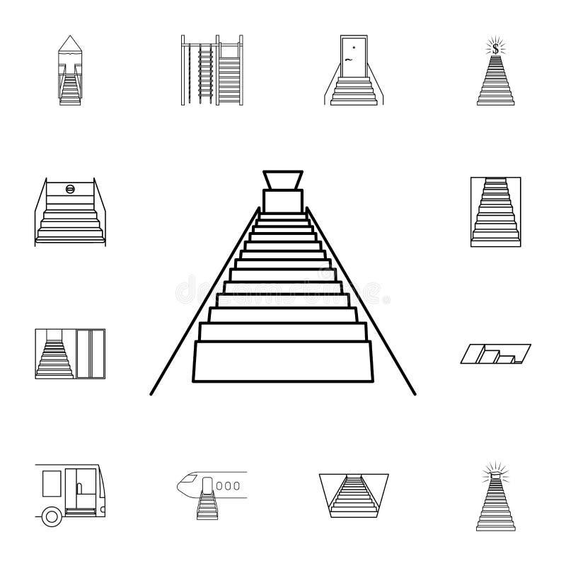 Escaliers à l'icône de sous-sol Ensemble détaillé d'icônes d'escalier Conception graphique de la meilleure qualité Une des icônes illustration stock
