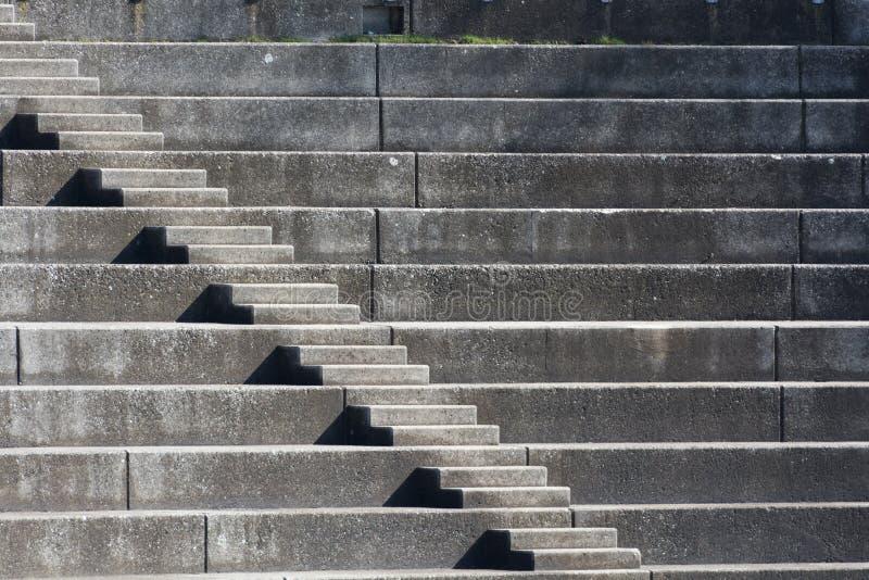 Escaliers à l'olympiapark photographie stock libre de droits