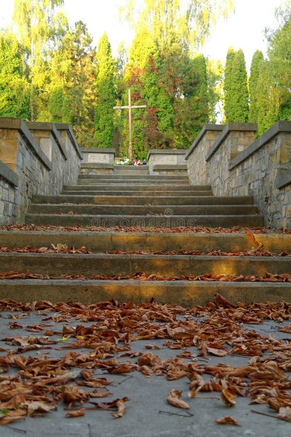 Escaliers à la croix photo stock