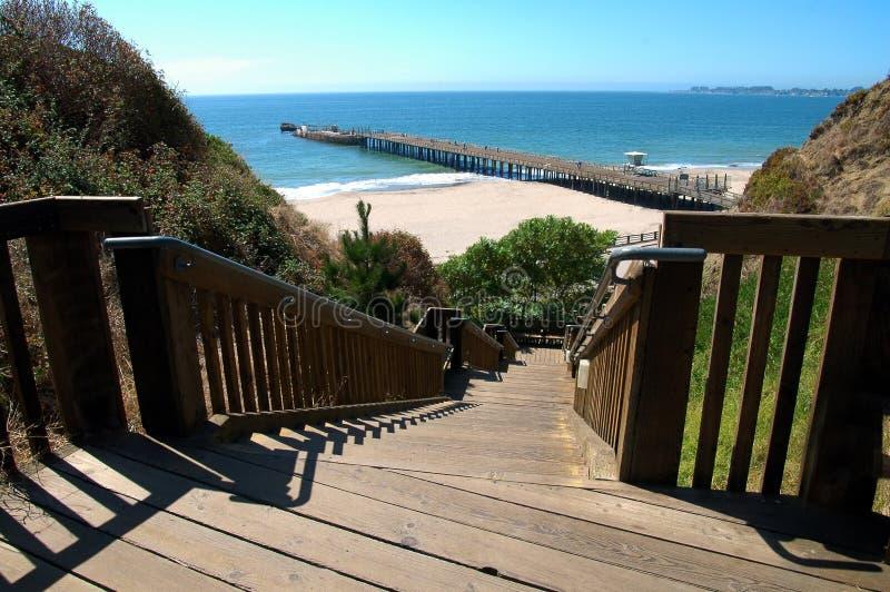 Escaliers à la plage photo libre de droits