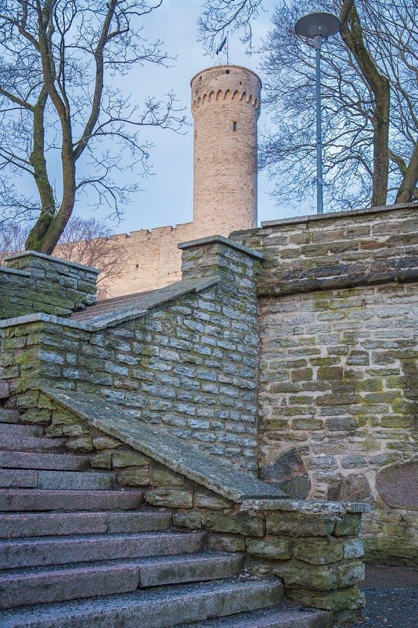 Escaliers à la tour grande de Hermann photo libre de droits