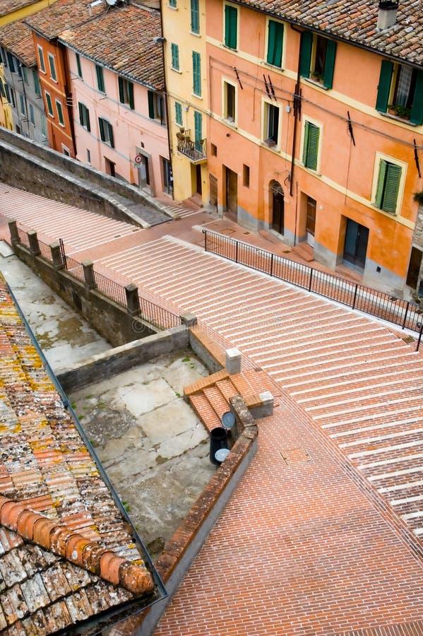 Escaliers à Pérouse image libre de droits
