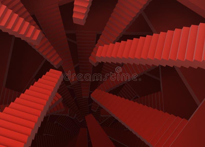 Escaliers illustration stock