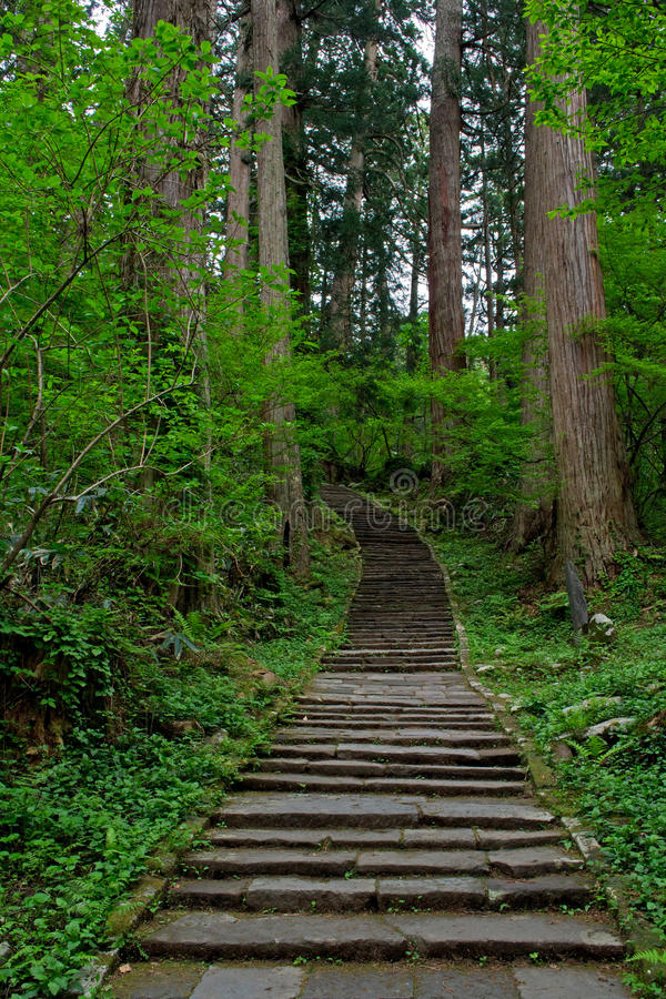 2446 escaliers amenant le bâti Haguro photo libre de droits