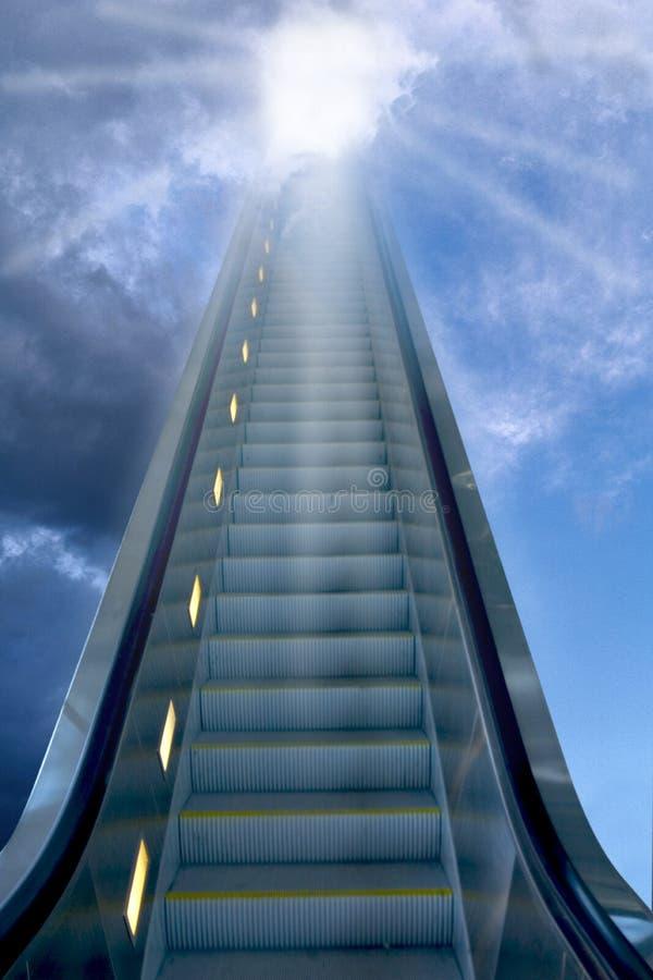 Escaliers au ciel image libre de droits