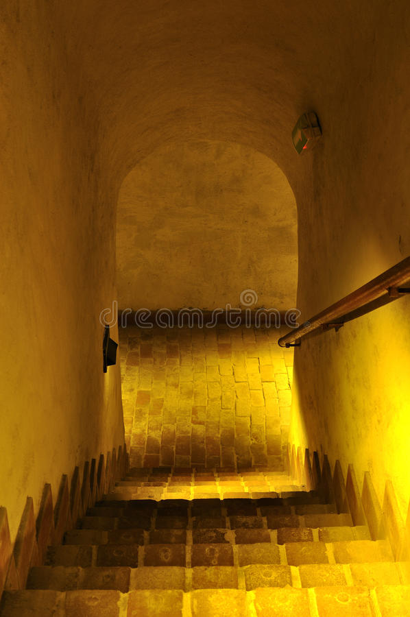 Escaliers au vieux Dungeon. images stock