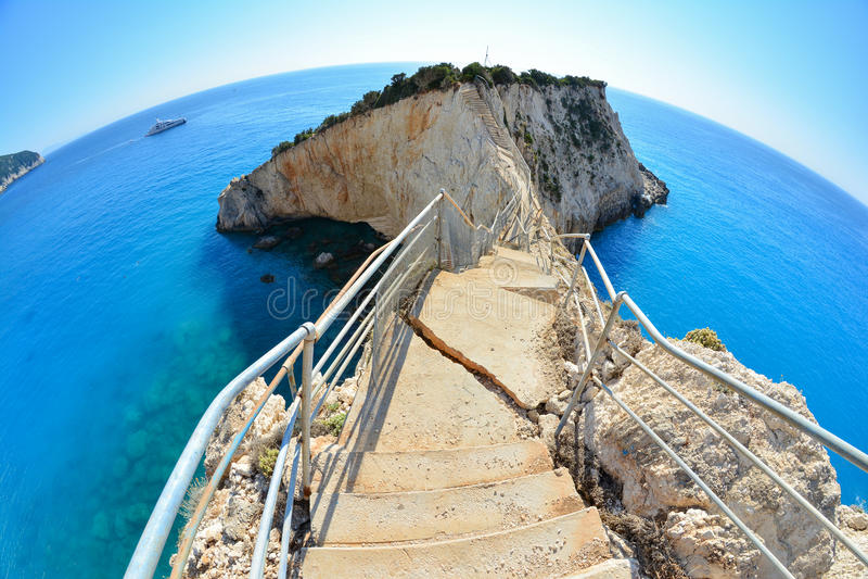 Escaliers cassés, Porto Katsiki image libre de droits