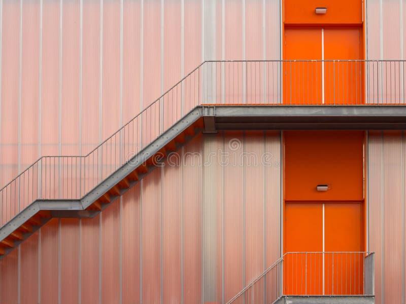 Escaliers d'évasion d'incendie images libres de droits