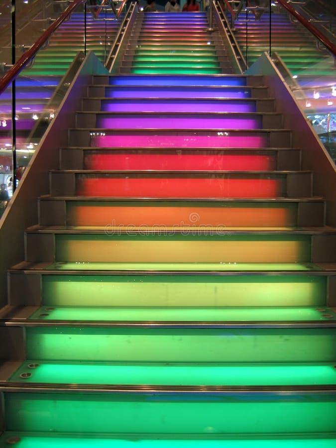 Escaliers d'arc-en-ciel photo libre de droits