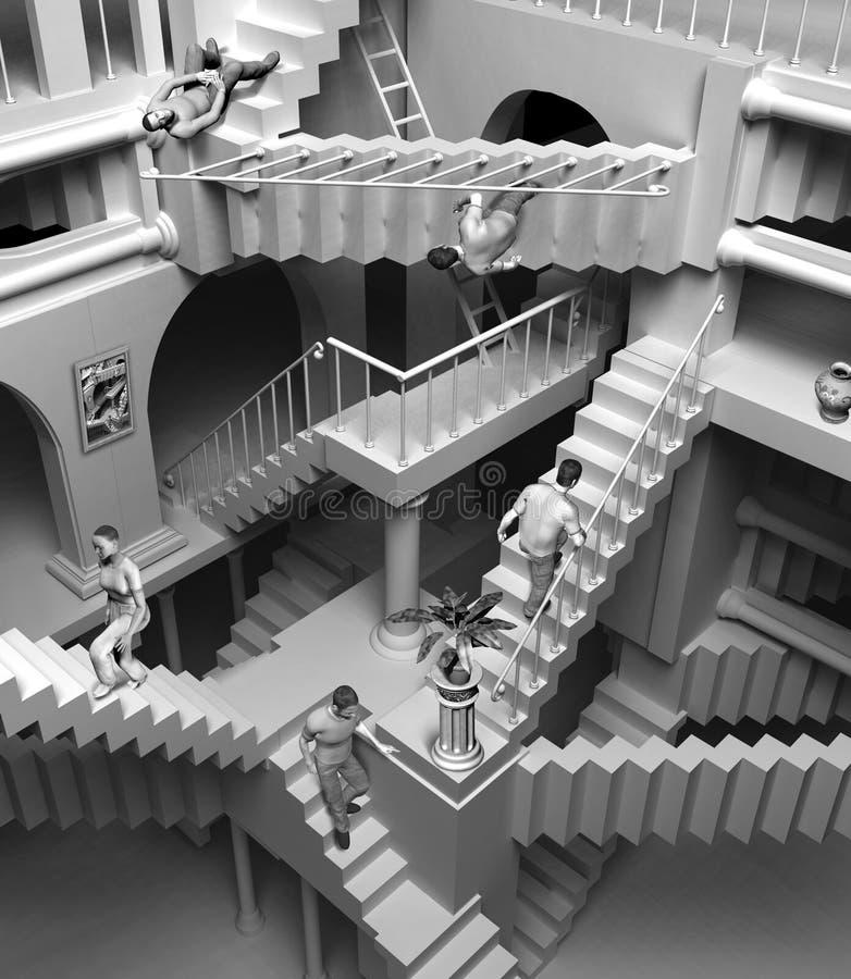 Escaliers d'Escher illustration de vecteur