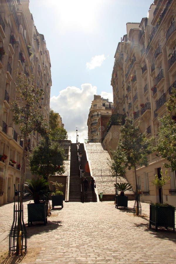 Escaliers dans Montmartre photos stock