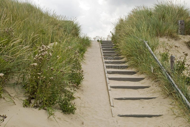 escaliers de dunes photo stock