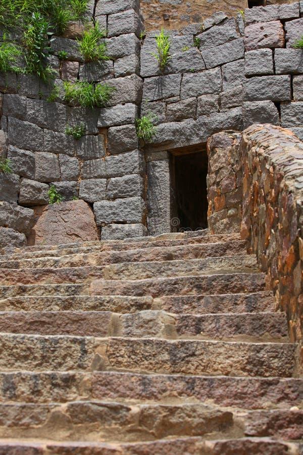 Escaliers de fort de Golkonda photographie stock libre de droits